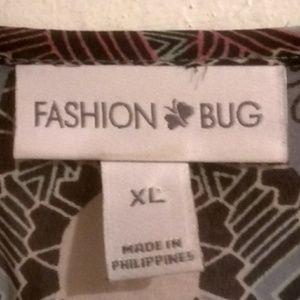 Fashion Bug Tops - Fashion Bug XL Boho chiffon shirt blouse